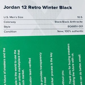 65eb99c20c14af Jordan Shoes - Jordan 12 Retro Winter Black SZ s 10.5 NEW